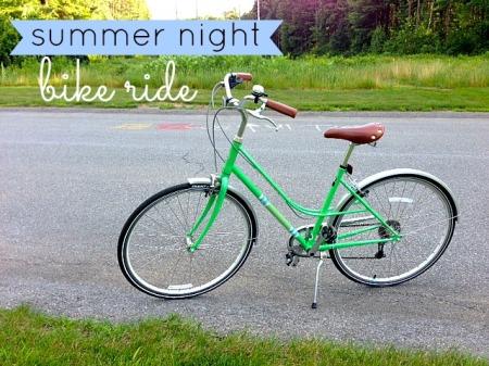 summer night bike ride